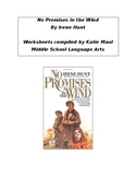 No Promises in the Wind Chapter Worksheets