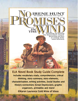 No Promises in the Wind by Irene Hunt Novel Reading Study Guide