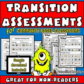 No Reading Transition Picture Assessments: Special Education Life Skills