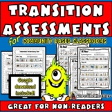 No Reading Picture Transition Assessments: Special Educati