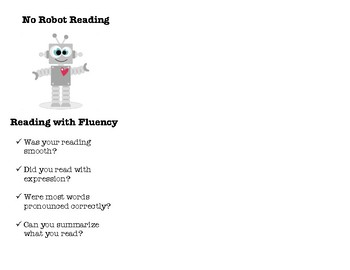 No Robot Reading Bookmark