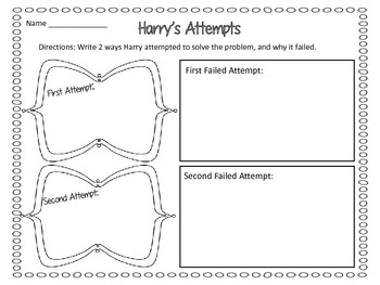 No Roses for Harry! By Gene Zion - Story Map & Writing Activities