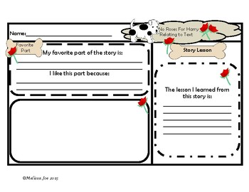 No Roses for Harry and Harry the Dirty Dog Literacy and Math Activities