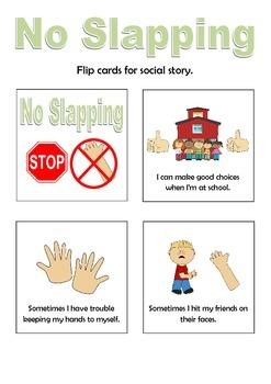 No Slapping Social Story Flip Book