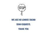 No Song Requests Printable