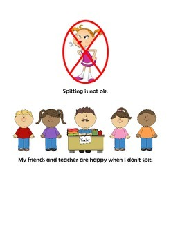 No Spitting Social Story