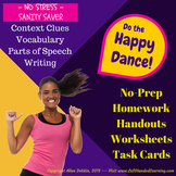 No Stress, No Prep, Reading/Vocab *STEAL* 50 pgs, 72 Cards, 12 Wrkshts+MORE