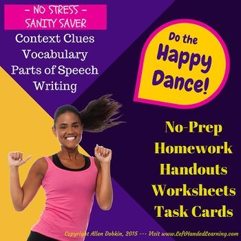 No Stress, No Prep, Reading/Vocab *STEAL* 50 pgs, 72 Cards, 12 Wrkshts+MORE