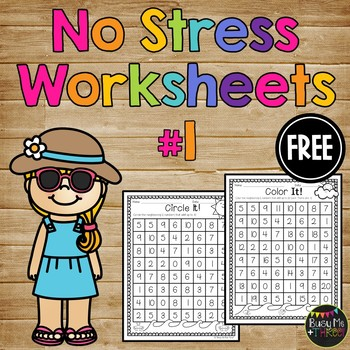 No Stress Summer FREEBIE, Number Bonds to 10 and 20