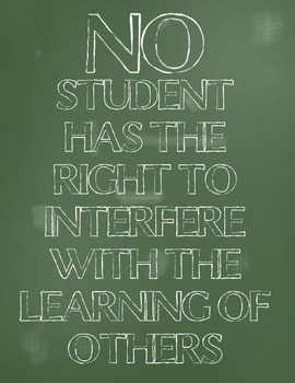 No Student Poster