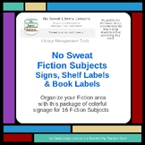 NoSweat Fiction Subjects (genre) Signs, Shelf Labels & Boo