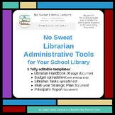 NoSweat Librarian Administrative Tools for your School Library