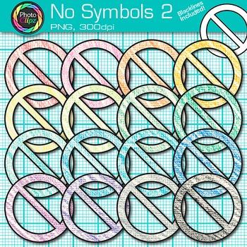 No Symbol Clip Art {Prohibition, Circle Backlash, Cross Ou