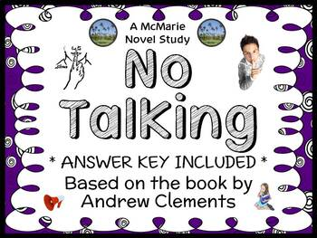 No Talking (Andrew Clements) Novel Study / Reading Comprehension