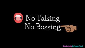 No Talking No Bossing Collaborative Game