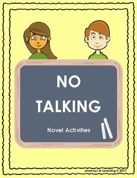 No Talking Novel Activities