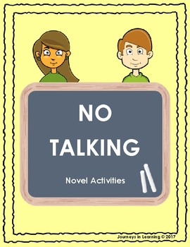No Talking Novel Activities