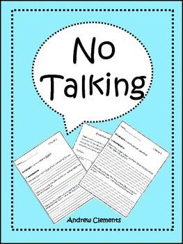 No Talking: Novel Study