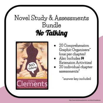 No Talking Novel Study and Assessments