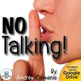 No Talking Novel Study Book Unit