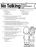 No Talking Reading Comprehension Test