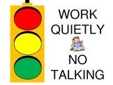 No Talking Red Light Traffic Signal