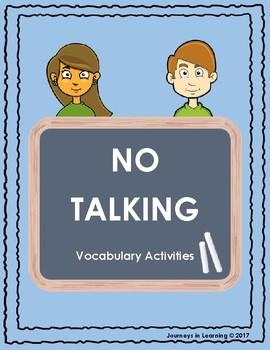No Talking Vocabulary Activities