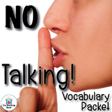 No Talking Vocabulary Packet
