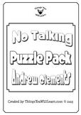 No Talking Crossword Puzzles