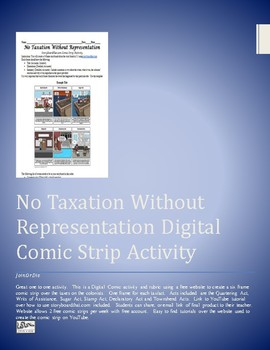 No Taxation Without Representation Digital Comic Strip