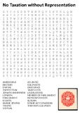 No Taxation without Representation Word Search