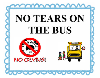 No Tears On The Bus.