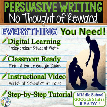 No Thought of Reward  Mawi Asgedom - Text Dependent Analysis Persuasive Writing