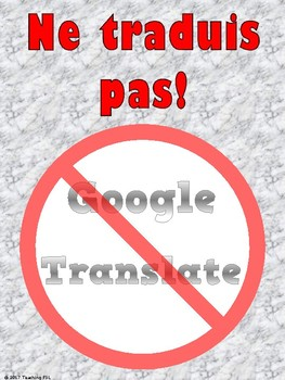No Translation Signs for French Class