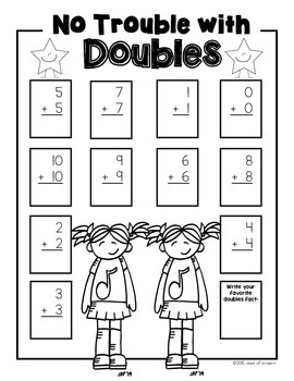 {No Troubles With Doubles Pack} Math for First Grade Games & More!