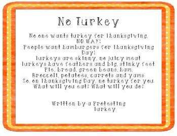No Turkey For Thanksgiving Poem