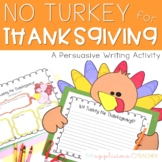 Turkey Writing Thanksgiving Persuasive Writing and Craft
