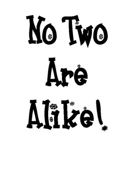 No Two Are Alike Bulletin