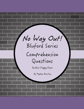 No Way Out!-Bluford Series-Comprehension Questions