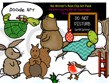 No Winter's Rest Clipart Pack