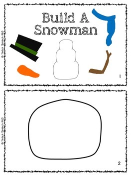 No-Words Freebie: Build A Snowman