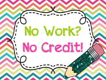 No Work, No Credit Poster