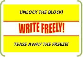 No Writer's Block! A Fun Way to Overcome Brain Freeze!