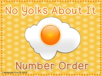 """No Yolks About It"" Number Order"