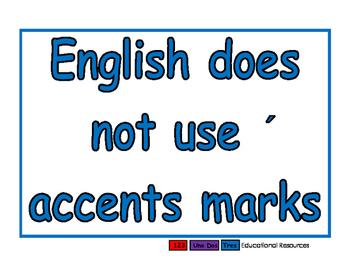 No accents blue