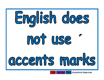 No accents blue