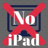 No iPad Sign