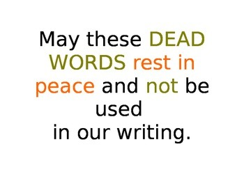No more DEAD words in your Writing