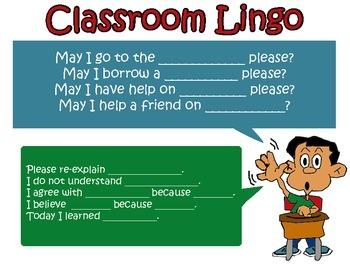 "No more, ""Huh?"" or ""yeah."" Classroom Lingo Sentence Stems!!"