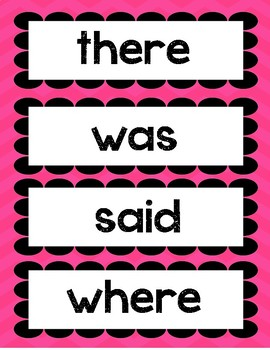 No more mistakes word wall words- 72 basic words